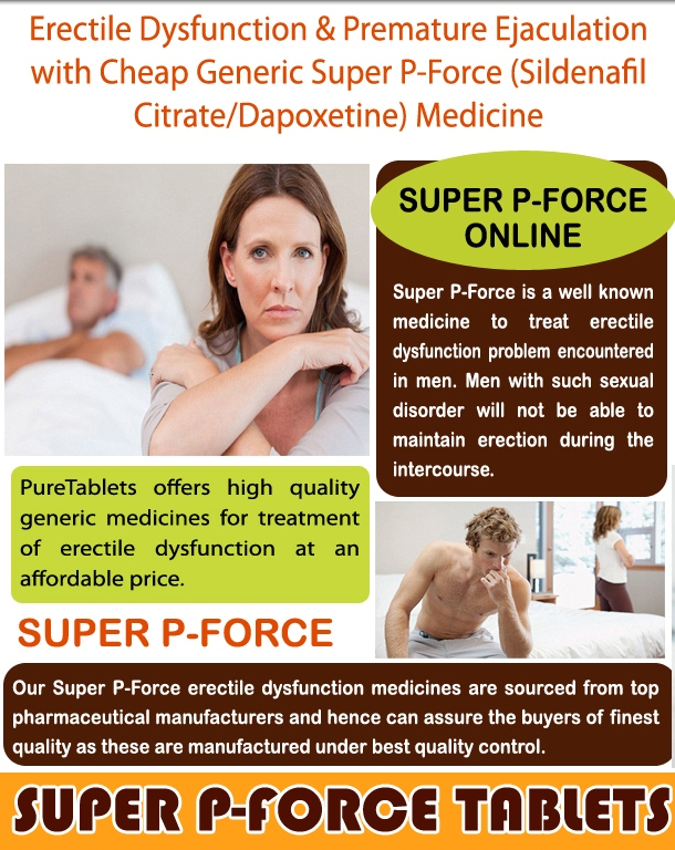 Super P-Force Sildenafil & Dapoxetine