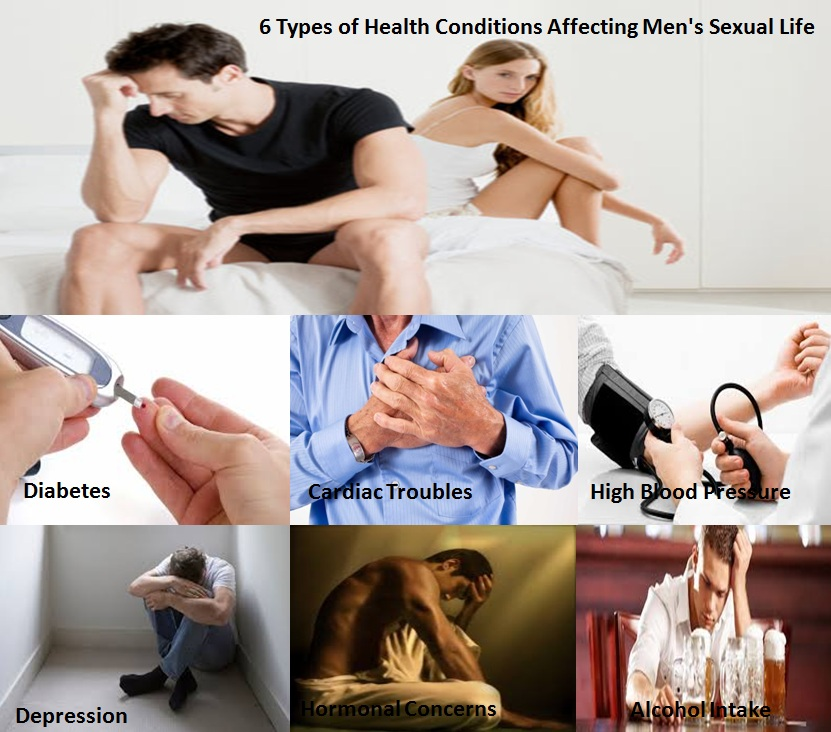 6 Types of Health Conditions Affecting Men's Sexual Life
